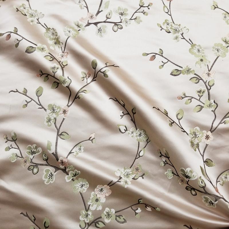 Мода Деревня 280cm завод дерево цветок листья Красный одежды Диван Кресло Занавес обивочные ткани шириной продают по 3 метра цветов