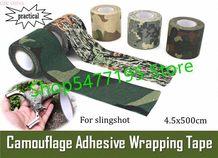 Outdoor Tarnung Tuch Basisgummi umwickelt Schleuder Gürtel tragbare Band, kann als Verband 4.5 * 500cm verwendet wird eSRN #