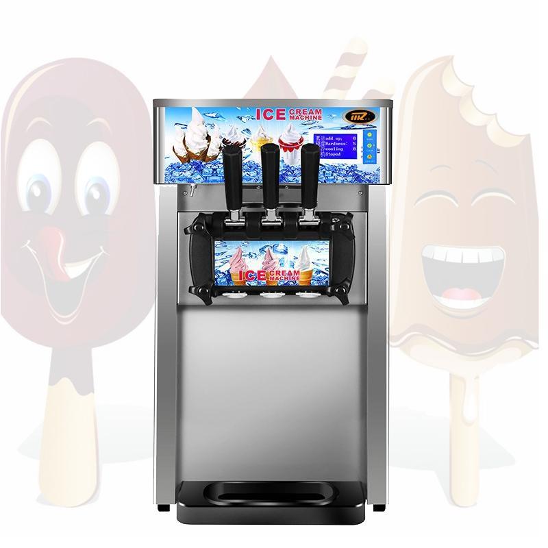 Обои для рабочего машина мороженого Три вкусов мягкого мороженого машины из нержавеющей стали мягкого мороженого делая машину для продажи