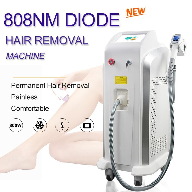permanent 808nm Diode Laser hair removal machine 808nm Painless safe professional diode laser hair removal 808 machine free shipping