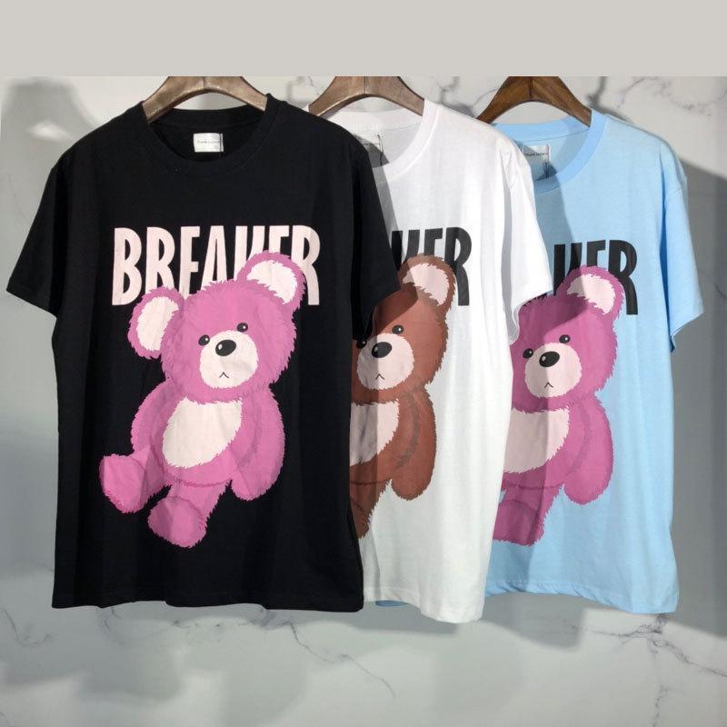 Designer T-shirt de tendance de la mode à manches courtes en Europe et en Amérique du ours noir mignon hommes bleus blancs et les femmes de gros 2020 Vente chaude
