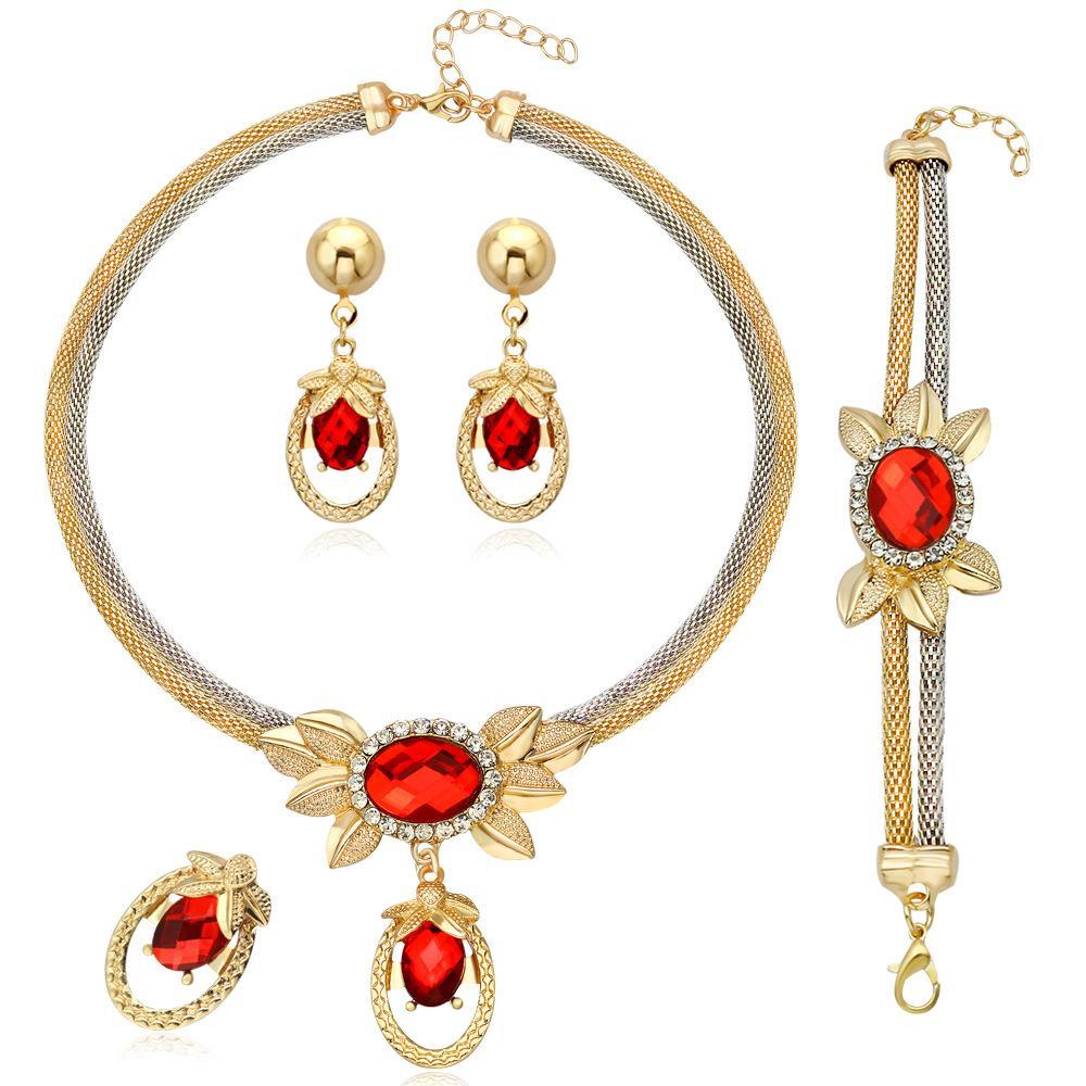 Pendiente del collar de la estrella de banquetes cadena Cuatro Conjunto Conjunto de joyas
