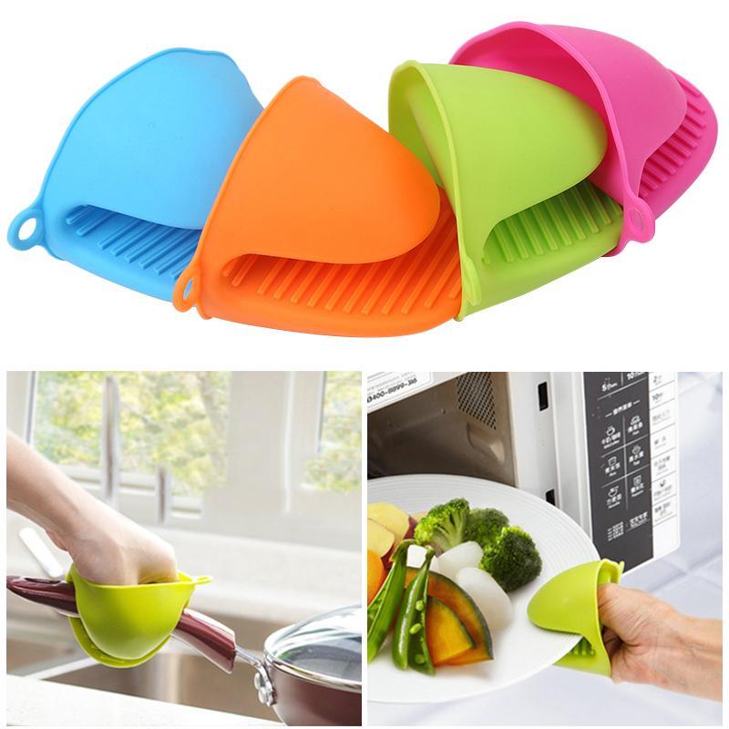 Insulated Wärme Hot Plate Clip 1 PC Mikrowelle Handschuhe verdicken Anti-Scald Kitchen Organizer Silikon Pot Clips Tisch im Restaurant zu essen