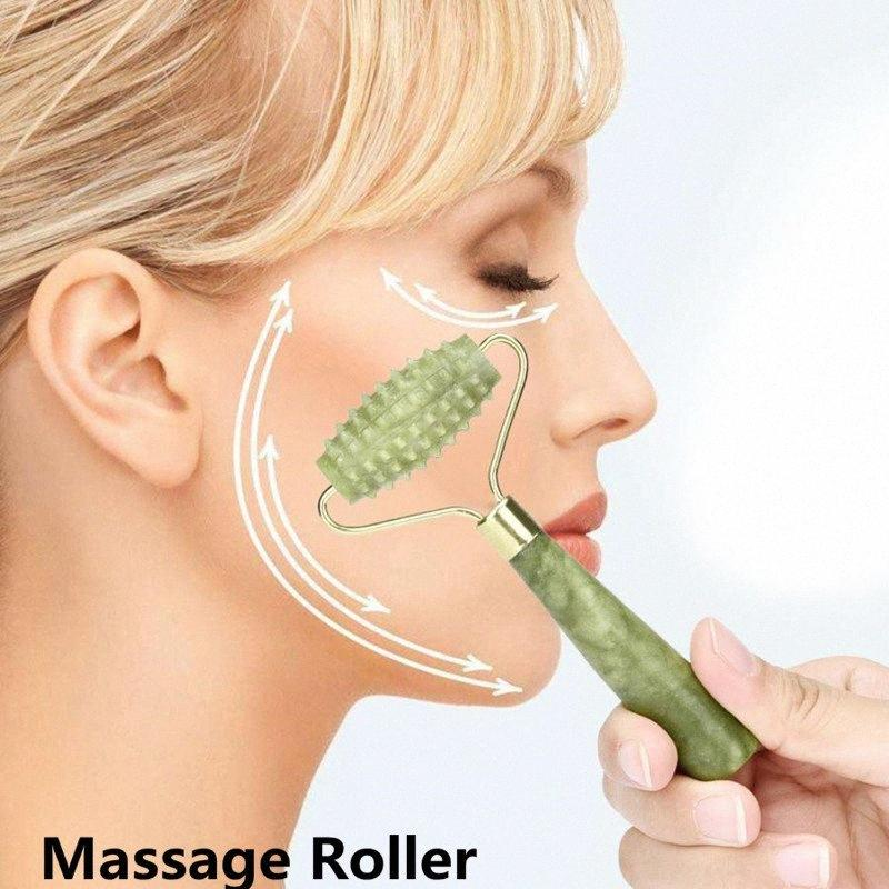 Jade Stone Needle Massager 3D Roller Massager Face Arms Neck Massage Roller Face Body SPA Massage Roller XDWe#