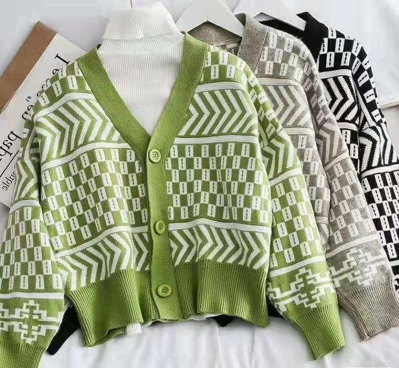 4FwWk drucken Cardigan früh und Winter faul Stil Pullover Frauenherbstfrauen Leopardenmantel Mantel Herbst C89ks Pullover