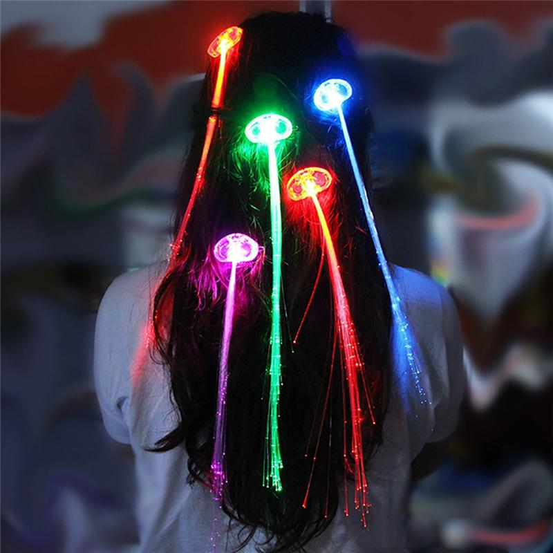 LED Perruques Glowing flash Ligth cheveux Braid clip Hairpin Noël anniversaire Toy Enfants Kid Enfant Fun Fly Cadeau Catapult Eject