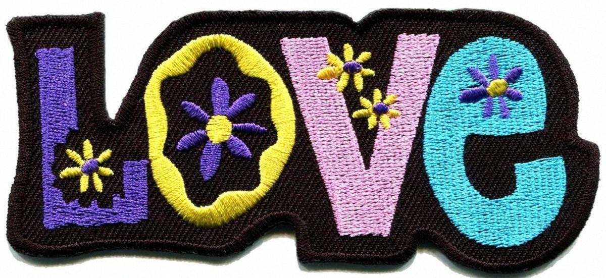 Пользовательская любовь мир хиппи Boho ретро цветок сила хиппи вышитых железа на патч нового дизайна значок бесплатной доставку 0QDt #