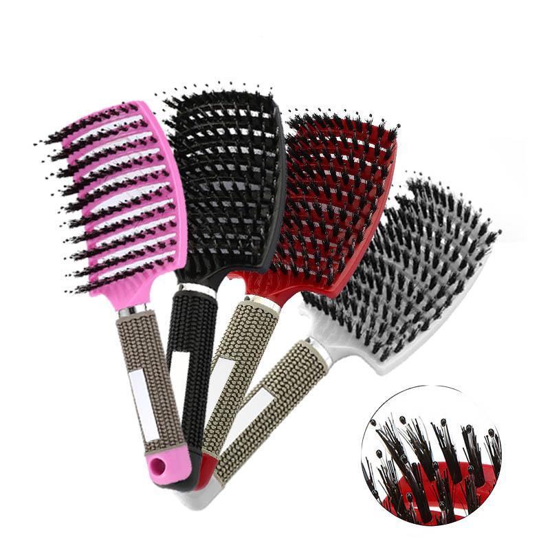 Sıcak Satış Salon için rahat Saç Tarak Fırça Saç Saç Derisi Masaj Tarak Hairbrush Naylon Kadınlar Islak Kıvırcık detangle Saç Fırçası