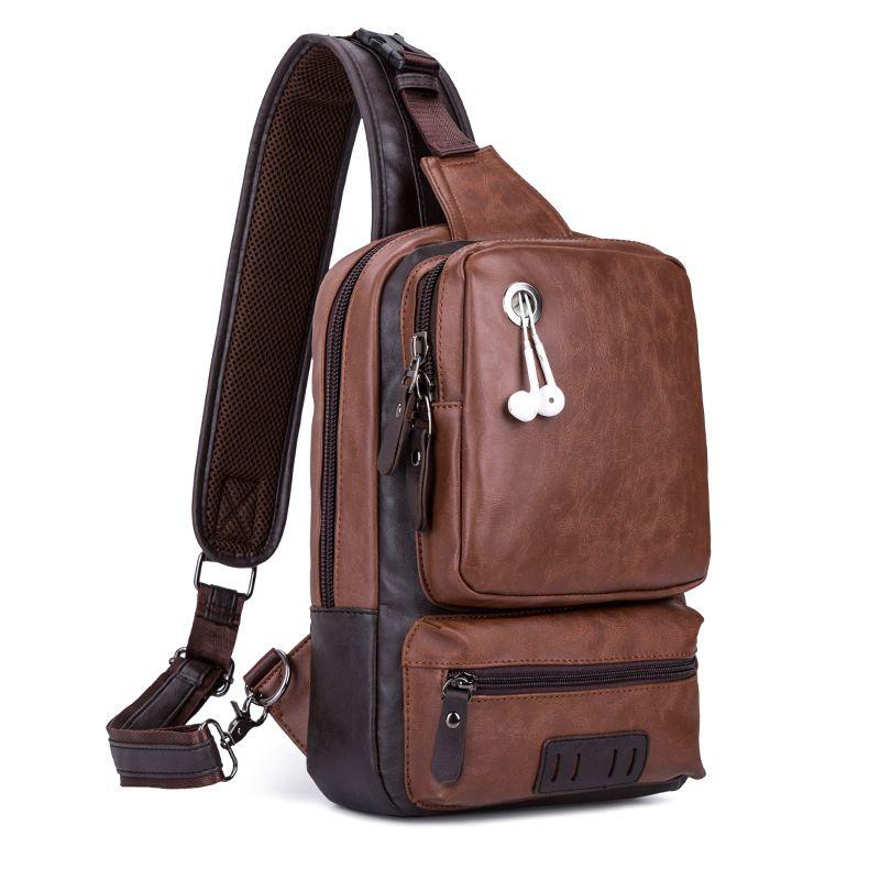 متعددة الوظائف الذكور حقائب الكتف سماعة ثقب حقيبة crossbody ماء النايلون التخييم حقيبة السفر حزمة كبيرة