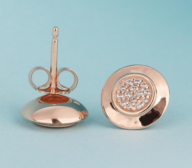 design de luxo clássico 18K Rose Assinatura ouro brincos caixa original para Pandora prata esterlina 925 mulheres Earring16