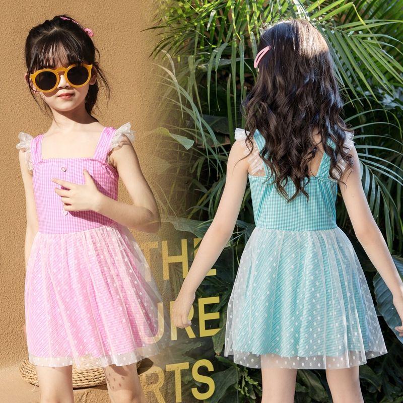 médio divisão das mulheres do KQ4Ym Crianças e maiô maiô 2020 novo estilo ocidental pequena princesa primavera grande da menina das crianças quente