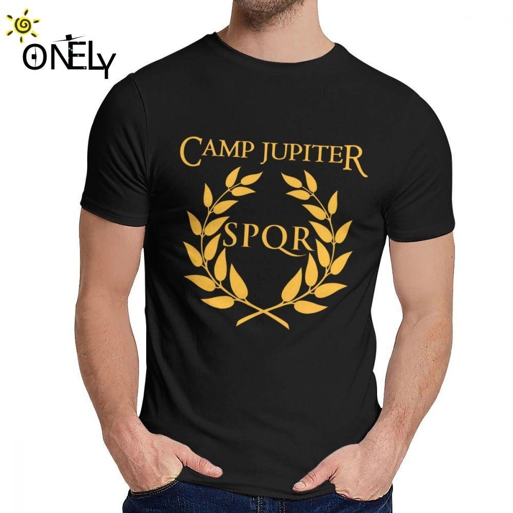 Erkek Te Gömlek SPQR Camp Jüpiter Rick Riordan Percy Jackson Yumuşak Moda Yuvarlak Yaka Vintage La Camiseta İçin