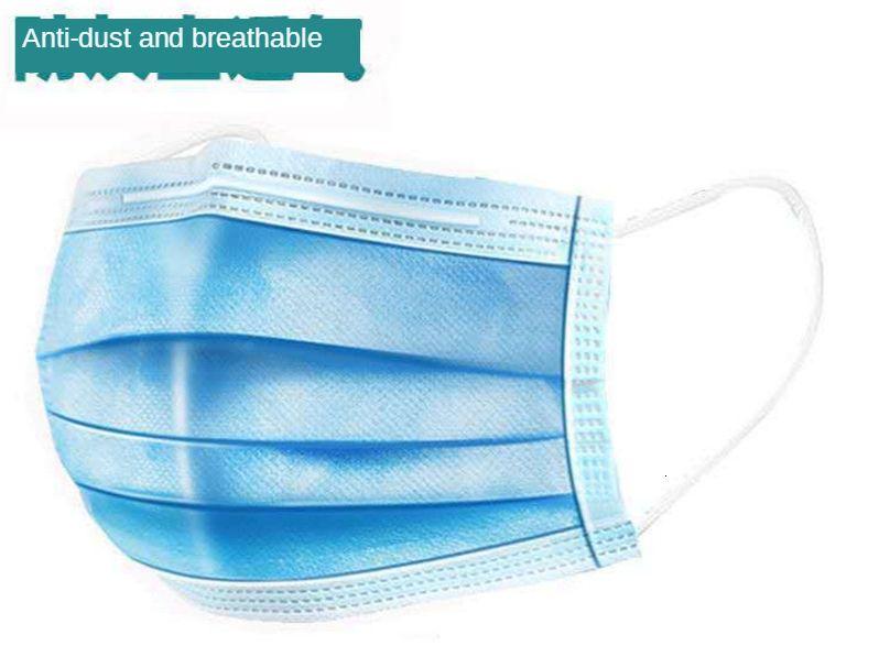 Mascarilla desechable Civil máscara a prueba de polvo a prueba de arena y transpirable de tres capas Máscaras de Protección de Adultos no tejidos de tres capas