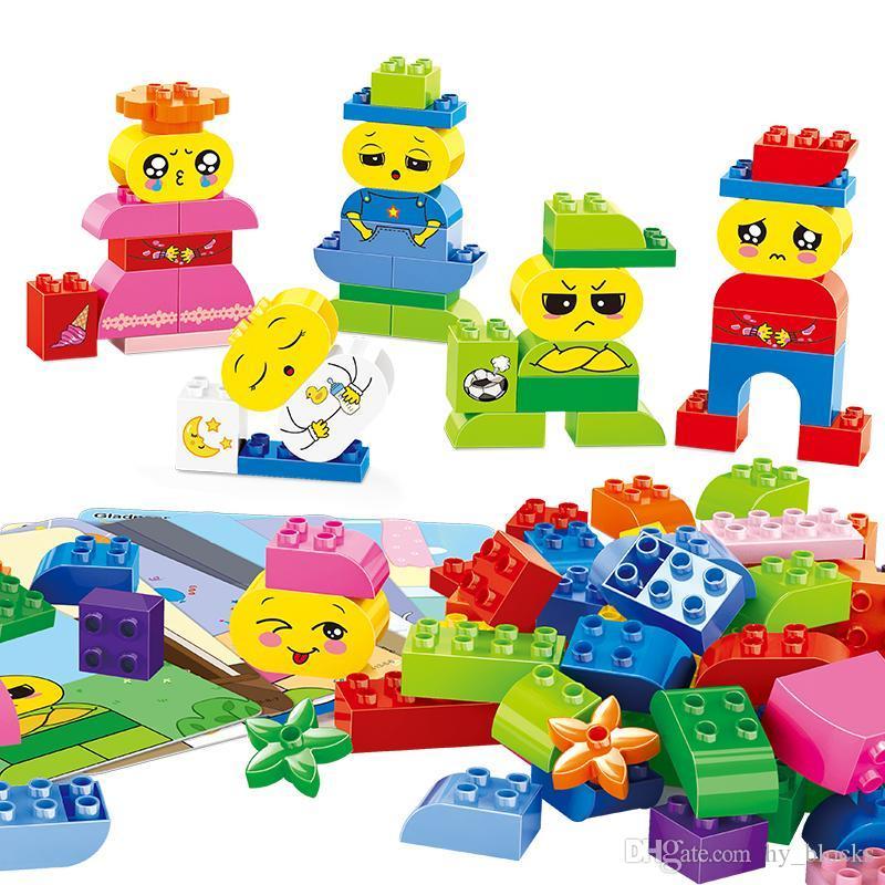 Giocattoli regalo Emozioni precoci bambini creativo grande educativo per i blocchi di costruzione My Little 63PCS serie Assembly Bambini Particle 02 UWRQX