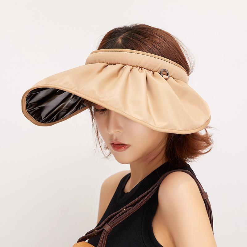 2020 Nouveau chapeau d'été pour les femmes anti-UV Pliable large chapeau pare-Brim facile à transporter casquettes de voyage mode chapeaux de soleil occasionnels d'été