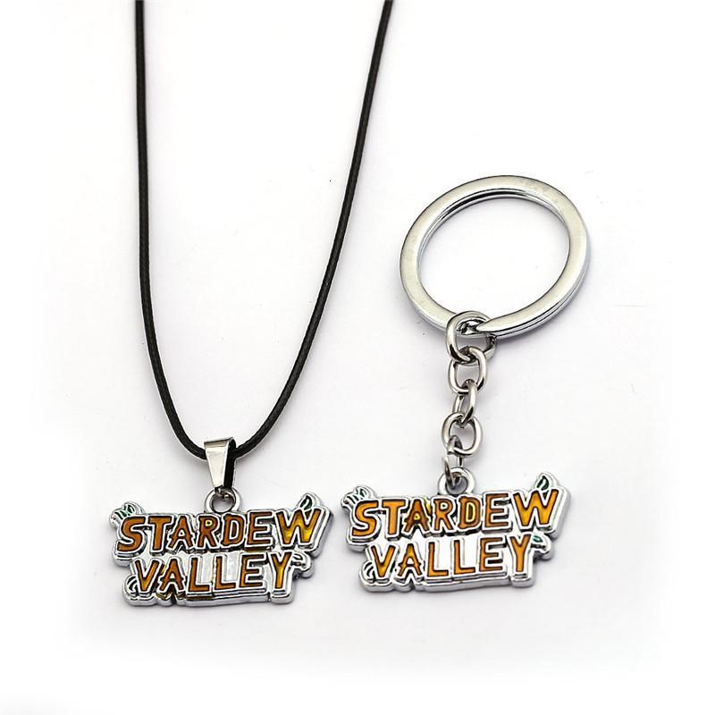 Cadeia New Game Stardew Vale Keychain do metal Chaveiro Pingentes Chaveiro Kolye Homens Jóias Porte Clef Colar
