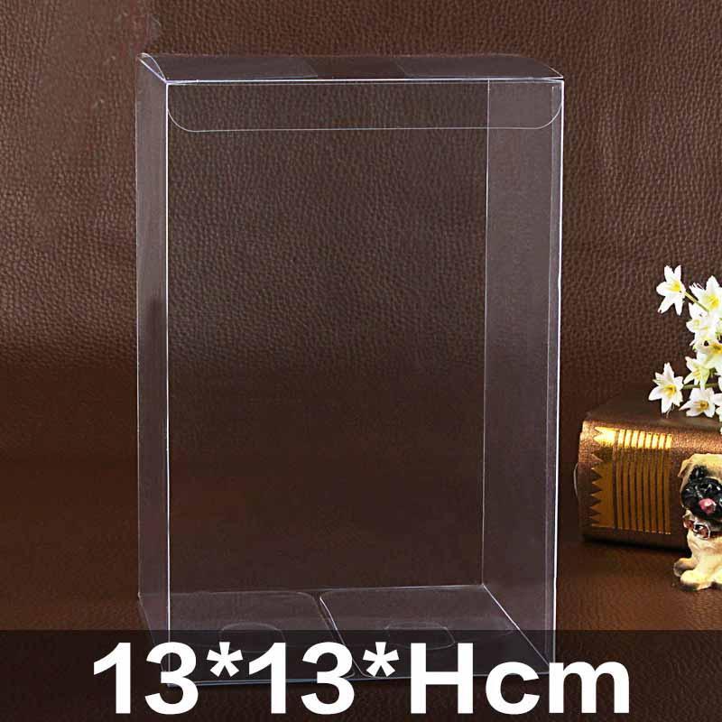 Очистить ПВХ Упаковка коробки торта / Gifoy Box, Wedding коробка конфет на заказ логотипа Экстра Прозрачный водонепроницаемый Ясно Негабаритные 20шт