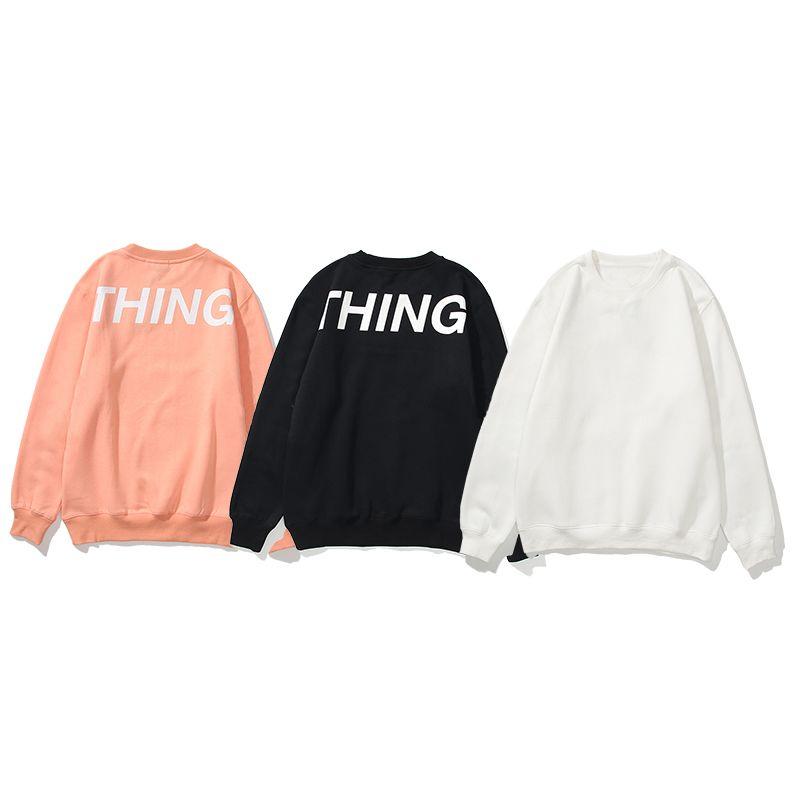 Chegada Nova Casais das mulheres dos homens camisola Hoodies alta qualidade Prints Carta pulôver manga comprida Mens Fashion Streetwear 3 cores M-3XL
