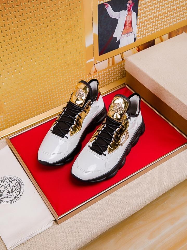 2021 -2019c verano nuevos hombres '; S cuero del bajo-Top zapatos casuales, zapatos planos blancos, zapatos altos -Calidad Ropa deportiva salvajes, Tamaño: 38 -44