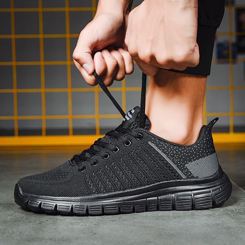 Мужчины Повседневная обувь Лак-вверх Мужчины обувь Легкая Удобная дышащая Ходьба кроссовки Тенис Zapatillas Hombre Мужчина для