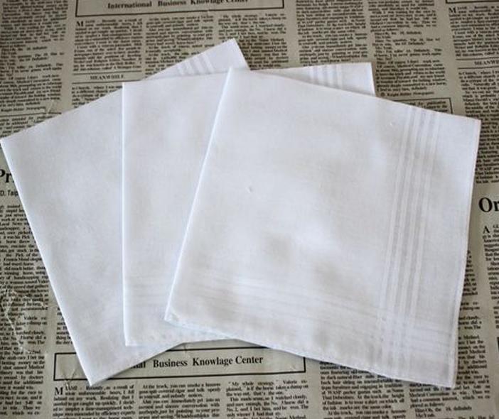 100% algodón 34cm de Navidad Hombre regalo MenTable raso Pañuelo Pañuelo cuadrado de Remolcadores más blanca 34cm regalo de Navidad Hombres