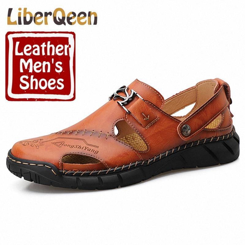 LIBERQEEN PU лето скольжению на спортивных мужской Водном Boots отдых римской обуви большого размером 13 Простой Кожу Мужской обуви wJHy #