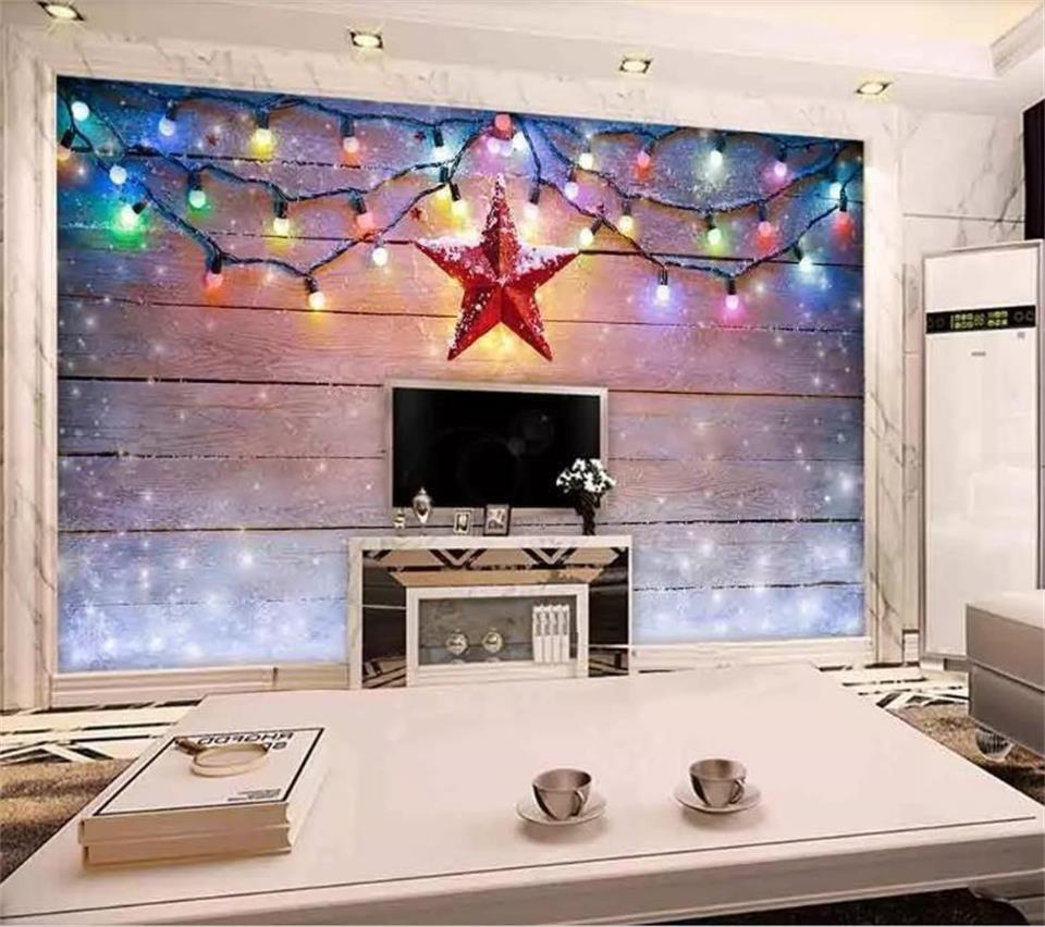 нестандартного размер 3d фото обои гостиная Mural снится доска пятиконечной звезды картины диван ТВ стены фона обои нетканой наклейка