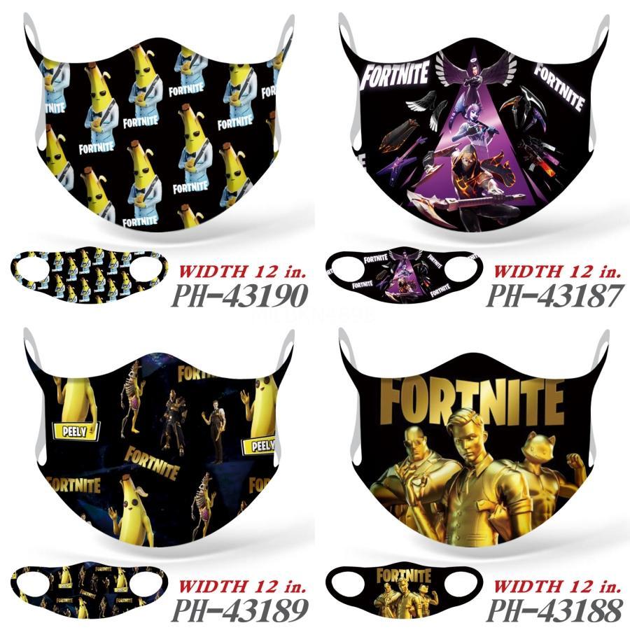 Double Layer FaceFortnite MasksForal Impressão da borboleta contra pó Designer Fortnite-UV Máscaras Fortnite Mulheres Homens Boca-Muffle Moda Washabl # 442