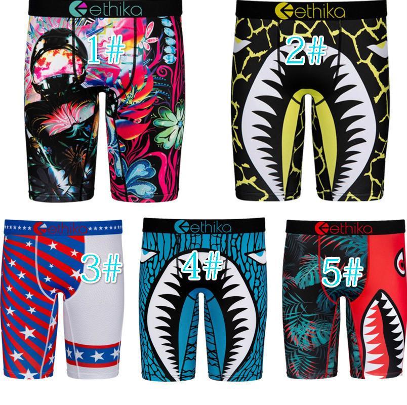Tasarımcı Erkekler Ethika Şort Seksi Baskılı Pantolon Yaz Kulübü Mini Tayt Moda Erkekler Plaj Pantolon Rahat Giyim Artı Boyutu 5 Renk