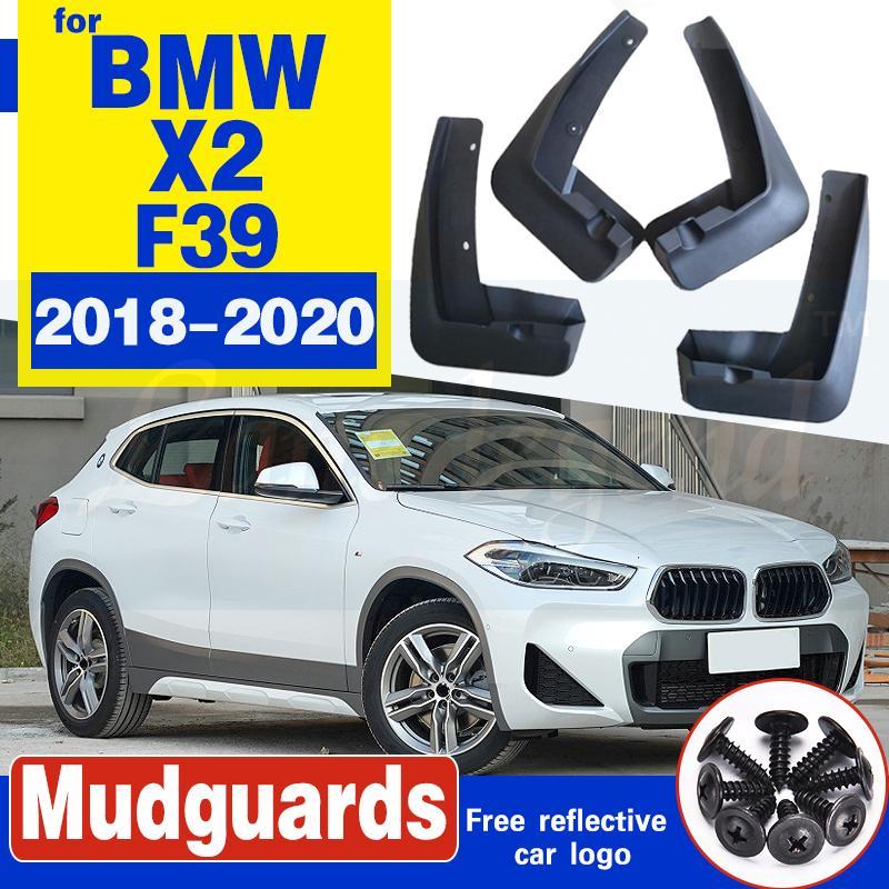 4 PCS Für BMW X2 F39 2018 2019 2020 Vorne Hinten Auto Kotflügel Fender Schlammschutz flattert Spritzen-Flap Radschützer Zubehör