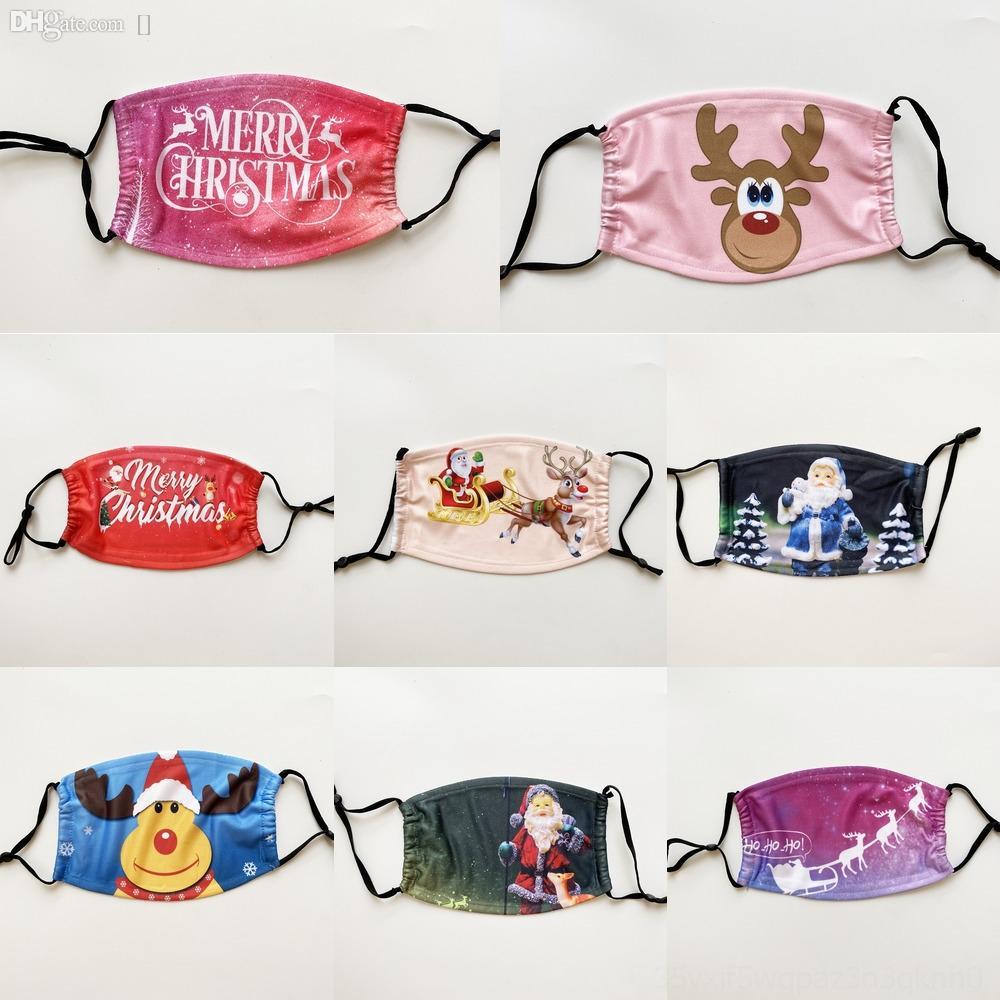 Máscaras Máscaras DSMe0 envío de Navidad lavables Moda Santa Claus Navidad anti cara del copo de nieve Navidad DustMasks cubrir la boca XZ