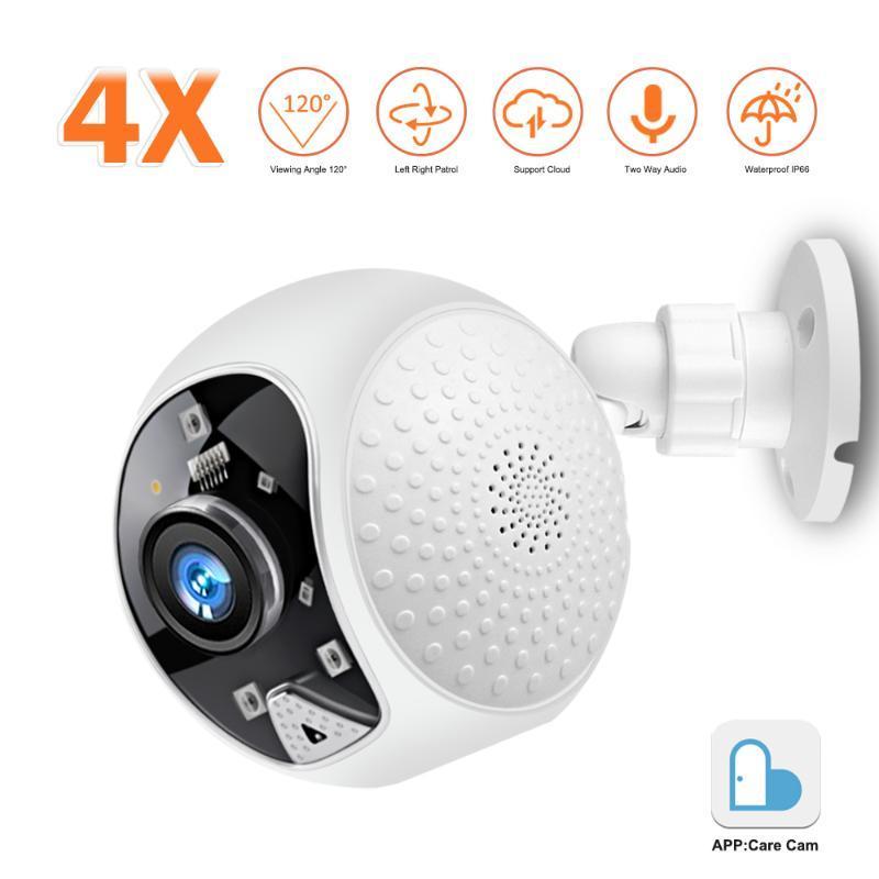 1080P HD WiFi IP-камера Смарт Открытый 4X цифровой зум скоростной купольной камеры безопасности беспроводной Cloud Storage 2MP Сеть наблюдения