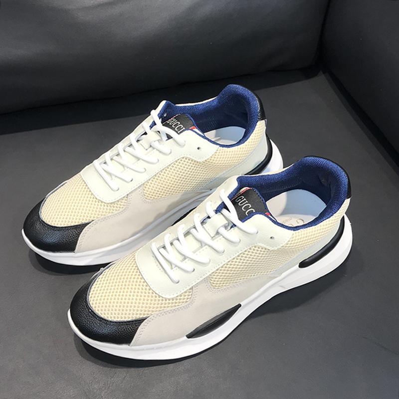 Mens zapatos cómodos nueva llegada zapatos de moda caminando al aire libre Chunky zapatilla de deporte con cordones de la Riefsaw más el tamaño de calzado deportivo masculino La tendencia ocasional