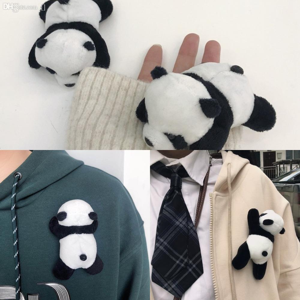 UdI82 Carino mini cappello sfera Pins gioielli spilla di lavoro a maglia di lana Spille panda corpetto accessori borsa coreano dei capelli per le donne Gw