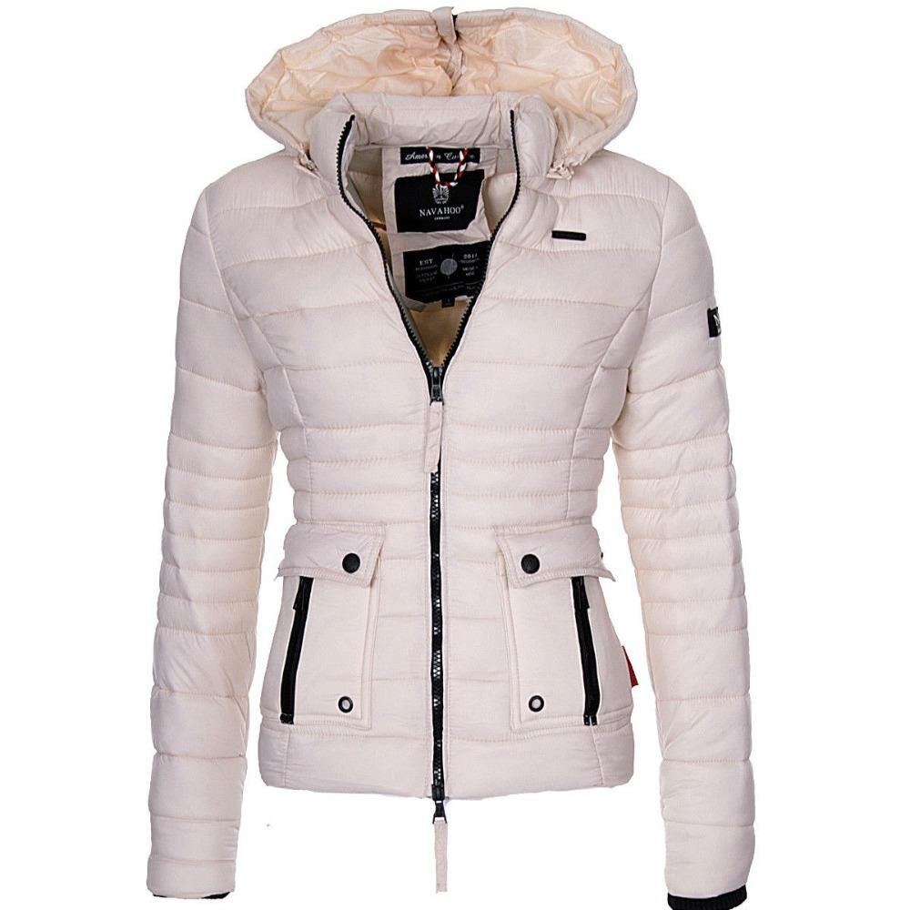 ZOGAA 여성 겨울 파카 따뜻한 외투 호흡기 재킷과 코트 패션 슬림핏 솔리드 캐주얼 후드 코트 착실히 보내다 여성 파카 T200814