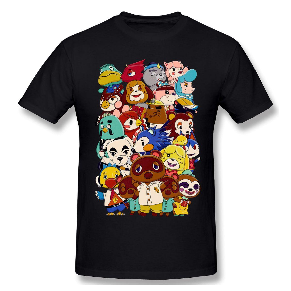 Die Charaktere lustige T-Shirt Mann-Sommer-O Ansatz beiläufiges Baumwoll-T-Shirt Graphic Tee Tier Kreuzung neue Horizonte mit Rundhalsausschnitt Top