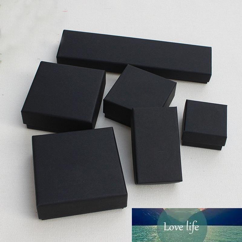 보석 선물 및 소매 상자 블랙 크래프트 포장 팔찌 목걸이 반지 귀 네일 상자 크리스마스 새해 선물 사용자 정의 10 크기 선택