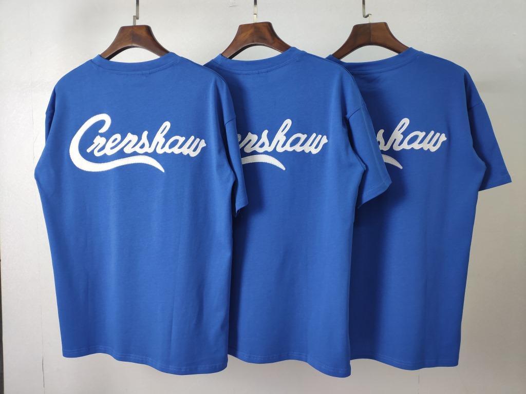 2020 DIEU ESSENTIEL hommes et femmes Marque T-shirt Designer Rue Marque Reflective brodé Patch Grande Goutte d'épaule à manches courtes bleu