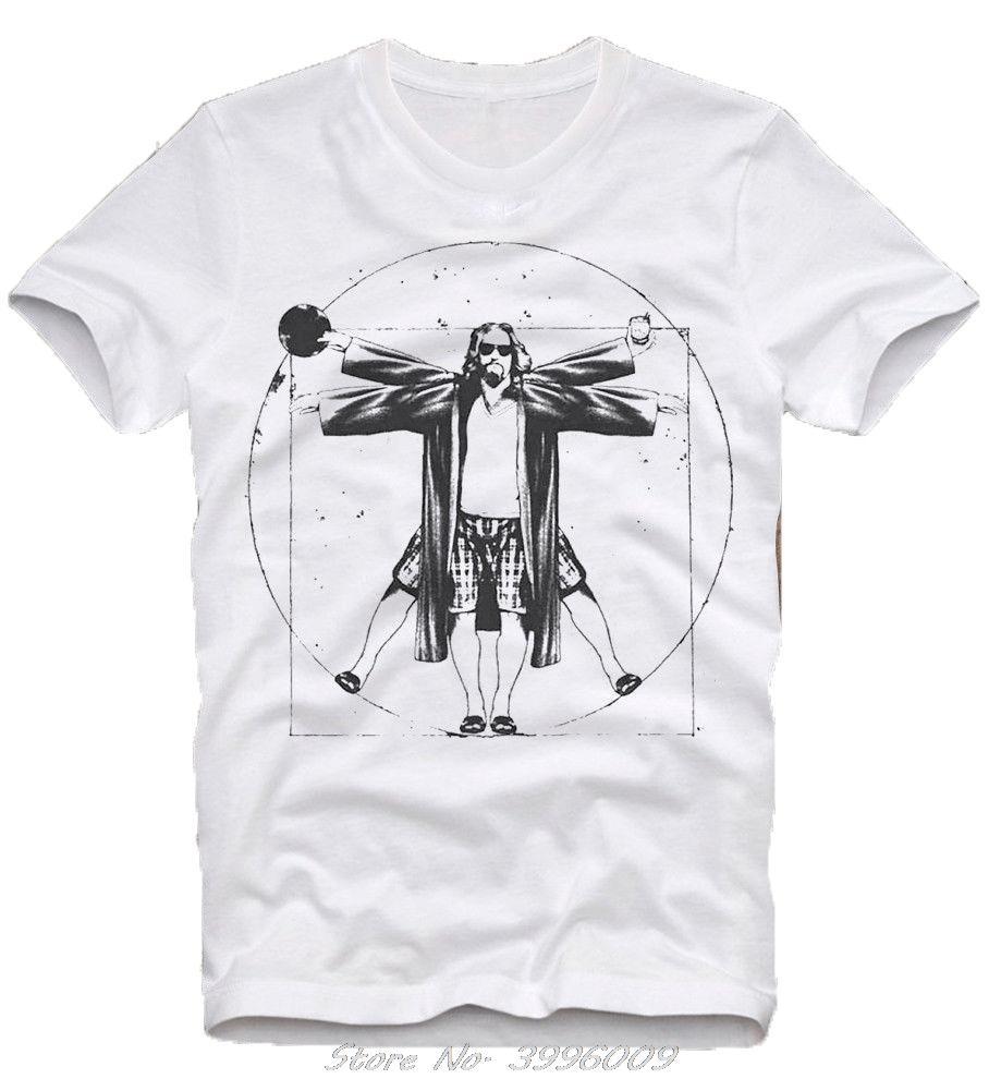 Camiseta El gran Lebowski El Nota Cult Movie Kultfilm hermanos Coen Da Vinci Hombre de verano de manga corta camiseta de algodón Streetwear