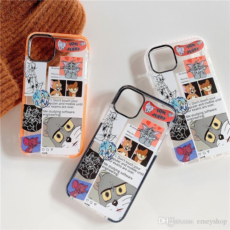 New Fashion designer de desenhos animados bonito telefone caso do iPhone para 11Pro X XR XS MAX 7 8 Plus macio TPU silicone capa para o iPhone 11