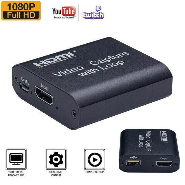 20set 1080P 4K HDMI Video Capture Device К USB 2.0 Dongle Game Record Live Streaming Broadcast Local Loop Out