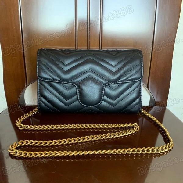 Fashion Donne Borse Tracolle Small Lady Borsello in sacchetti dell'unità di elaborazione Leather Chain Catene Evening Bag Purse Satchel Messenger Bag