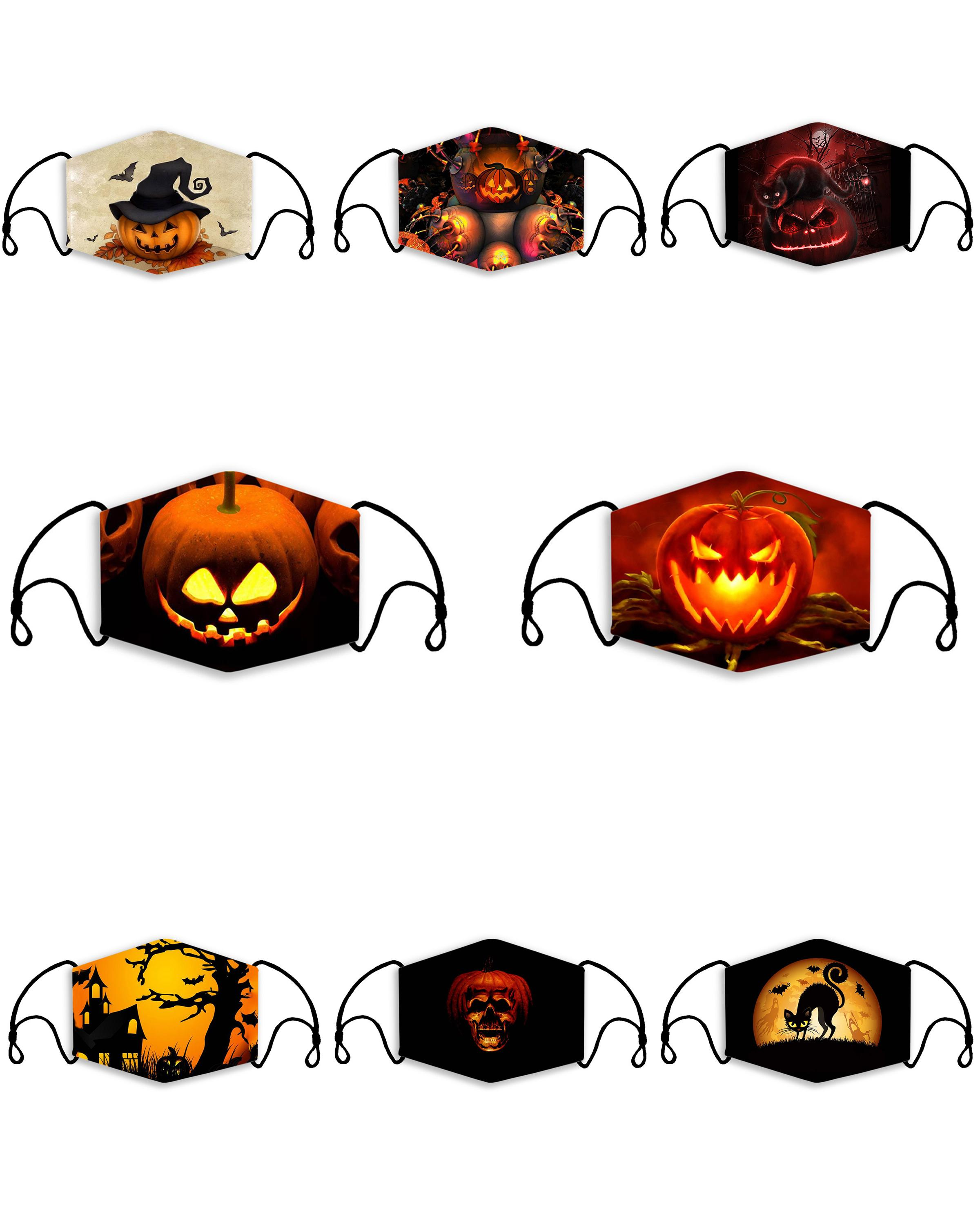 Halloween Photo Filter 2020 2020 Halloween Adult Kid Respirator With Filter Fashion Face Mask
