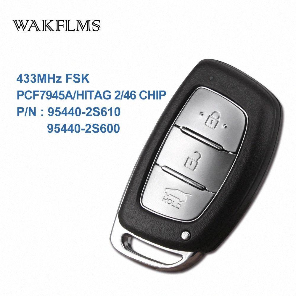 3 кнопок BTN 433MHz PCF7945A HITAG 2 46 CHIP Удаленный ключ Smart Car Для IX35 95440-2S610 95440-2S600 kcFt #