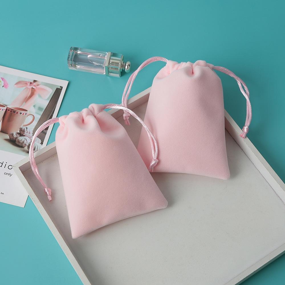 So6gP velours rose flanelle cordon de serrage poche de taille de poche d'impression rose sac cadeau taille de bijoux de velours cadeau flanelle cordon de serrage ba yrLKW