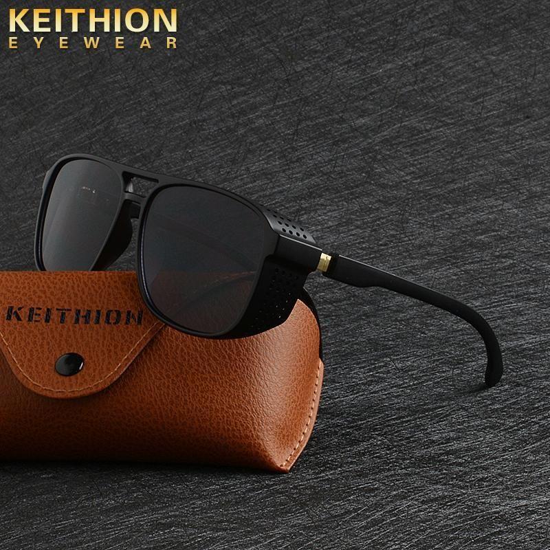 Shades Uv400 Y200415 Sun Keithion uomini degli occhiali da sole Shields occhiali di protezione laterale delle donne di stile Retro Fashion Steampunk Piazza bbyKh bdehome