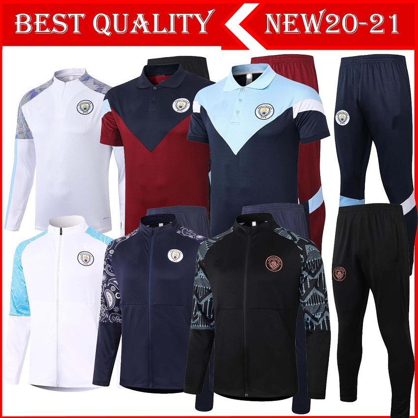 2020/21 manchester Survêtement à fermeture éclair pied bleu hommes veste MARTIAL Rashford 2020 footing 2021 Pogba United Survêtement de football