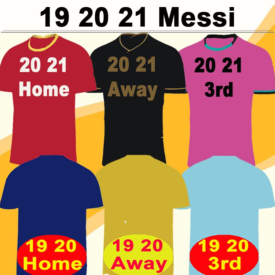 19 20 21 Barcelona MESSI GRIEZMANN Local Visitante 3er Camisetas de fútbol para hombre SUAREZ PIQUE COUTINHO DEMBELE Camisetas de fútbol RAKITIC F. DE JONG Uniformes cortos