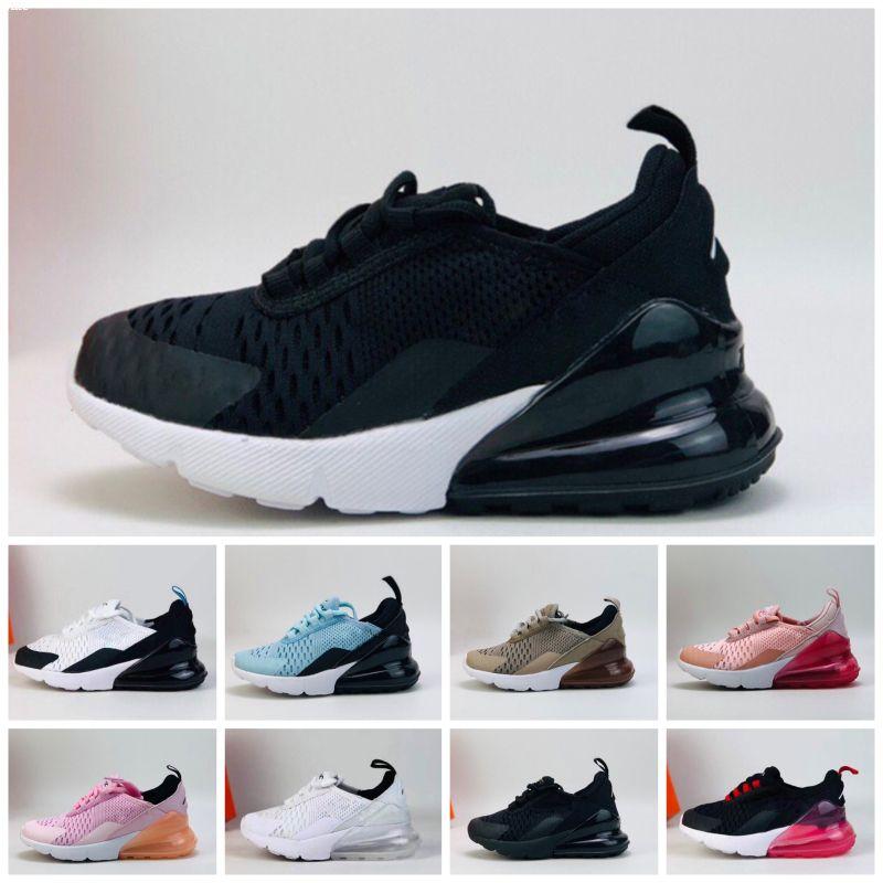 Nike air max 270 27c 2019 Chaussures de créateurs pour enfants Enfants 27 ans Chaussures de basket Wolf Grey Toddler Sport Baskets pour Garçon Fille Toddler Chaussures Pour Enfant