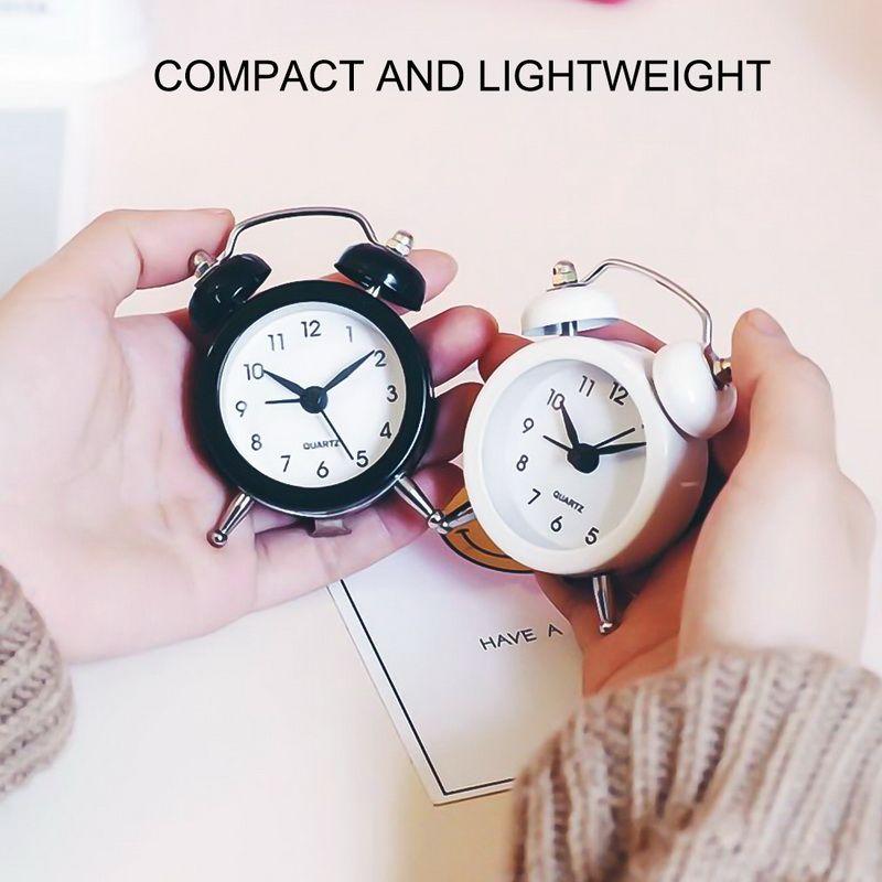 Bell Kamp Açık Araçları ile Seyahat Vintage Analog Mini Masası için 50mm Küçük Çalar Saat Yüksek Kalite Bell Çalar Saat